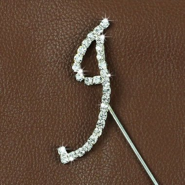 Bakell Crystal Monogram Topper - Small - I from ()