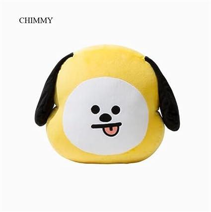 JHion KPOP BTS BT21 Cute dibujos animados de peluche de felpa juguete muñeca almohada Cooky shooky