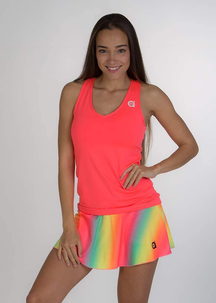 Paddle Camiseta Cielo Rosa a40grados Sport /& Style Mujer Tenis y Padel
