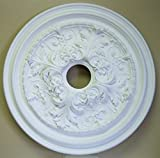 27 Inch Decorative Ceiling Medallion- White- Paintable