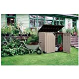 Large Storage Shed, Patio, Horizontal  Stands 4 Foot At Peak