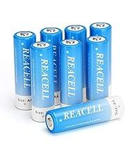 REACELL AA Accu Oplaadbare Batterijen 2800mAh 1,2V Ni-MH 8 Stuks 1200 Cycli Lage Zelfontlading met Opbergdoosje