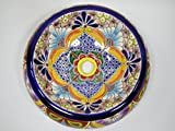 15'' DONUT TALAVERA SINK vessel, doughnut mexican bathroom sink, handmade ceramic, mexico folk art