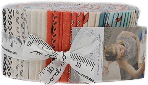 Lydia Nelson Mighty Machines Jelly Roll 40 2.5-inch Strips Moda Fabrics 49020JR by Moda Fabrics
