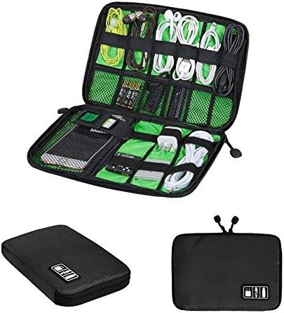 Kabel-Organizer, universal, Reise-Organizer, Tasche für Elektronikzubehör, Tasche für USB-Kabel, Festplatte, Speicherkarte, Netzkabel, Akku-Ladegerät