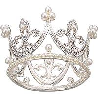 Alloy Tiaras Kids Flower Girl Baby Full Crystal Circle Round Mini Tiara Crown
