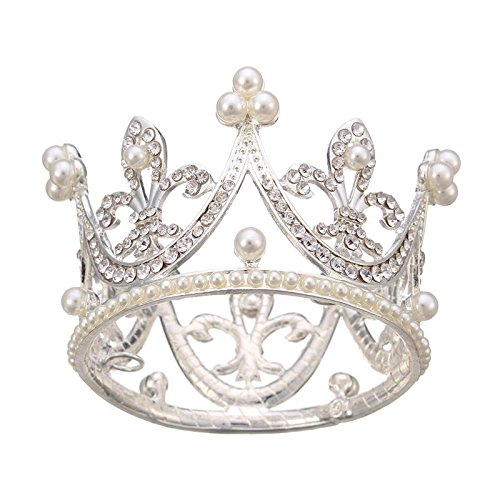 Alloy Tiaras Kids Flower Girl Baby Full Crystal Circle Round Mini Tiara Crown 12