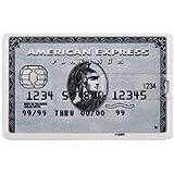 Hi-Tech-Global, Chiave USB a forma di carta di credito (16 GB), USB 2.0, Flash Drive Amercican Express Grigia