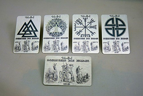 gt; WALLET Thor Lucky Odin Freya RUNES SET RUNE Your Metal in 5 Symbols etc or Message Futhark Valknut Compass Name PCS Inserts Script Vegvisir Elder Personalised FULL Viking Cxvwq5Htt