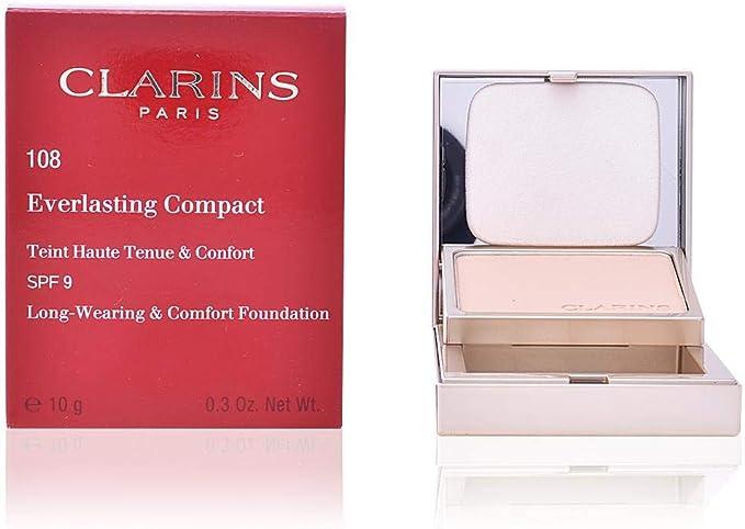 Clarins Everlasting Compact Teint Haute Tenue&Confort Spf9#112-Amber 1 Unidad 500 g: Amazon.es: Belleza