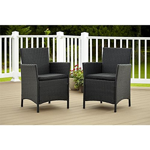 Cosco Outdoor Jamaica Resin Wicker Dining Chairs (Set of 2) For Sale