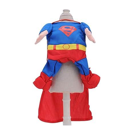 GLZKA Traje de Mascota Ropa Graciosa Superman Spider Bat ...