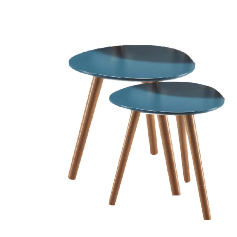 Mid Century Nesting Tables Set of 2 Side End Coffee Corner Entryway Industrial Modern Accent Furniture & ebook by Mid Century Nesting