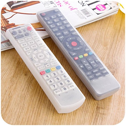 AliGo Anti-dust waterproof  TV Remote Control Set Waterproof Dust Silicone Protective Cover Case Stylish (M, Clear)