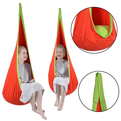 MTN-G Child Pod Swing Chair Tent Nook Indoor Outdoor Hang...