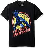 Marvel Men's Black Panther Short Sleeve T-Shirt, Black, X-Large