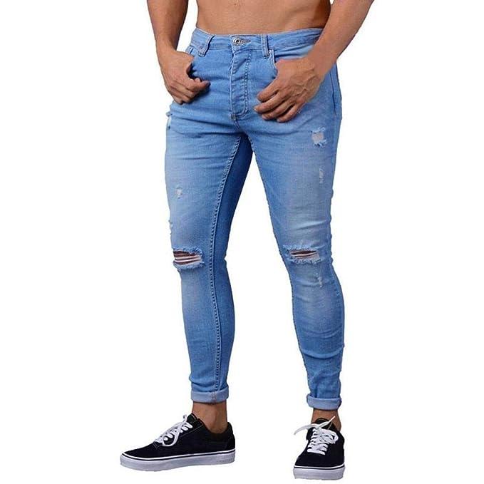 new product ccd27 b54e2 LiucheHD Uomo Pantaloni Attillati Slim Fit da Pantaloni ...