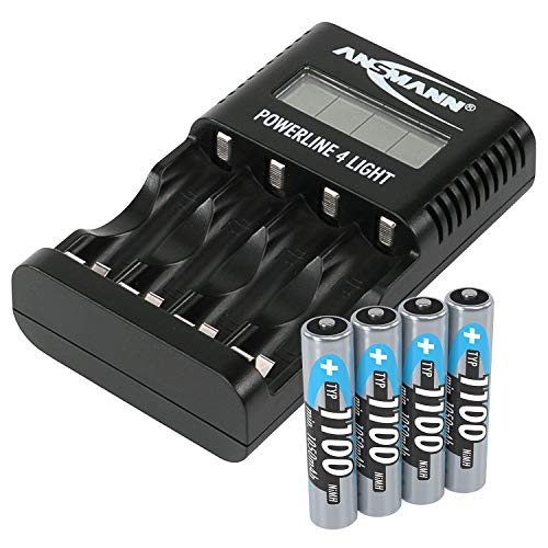 Ansmann Powerline 4 Pro AAA3, Incl. Paquete de 4 AAA 1100mAh