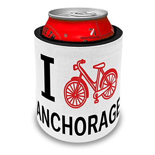 NEONBLOND I Love Cycling City Anchorage Slap Can Cooler Insulator Sleeve]()