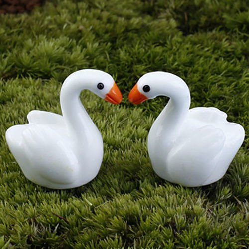 new-no30-5pcs-white-swan-lots-garden-craft-plant-pots-fairy-ornament-miniature-figurine-dollhouse-de