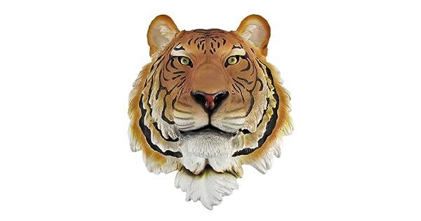 Amazon.com: Busto de Mount Wall Estatua de cabeza de tigre ...