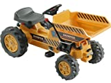 Kalee Kids Play Vehicles Pedal Tractor with Dump Bucket Yellow