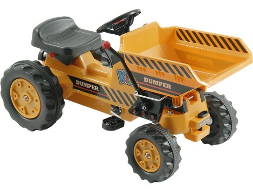USA Big Toys Kalee Kids Play Vehicles Pedal Tractor Dump Bucket Yellow