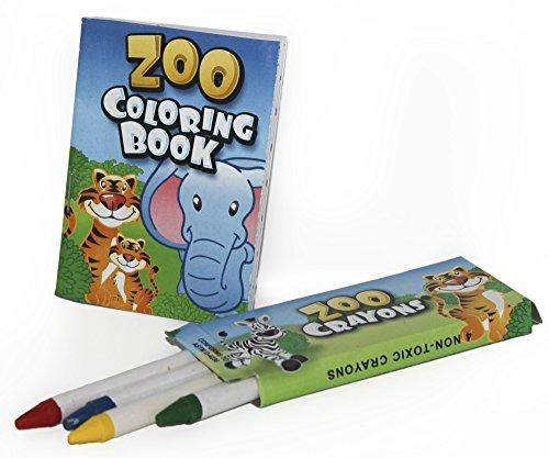 12 juegos de Zoo libros para colorear y lápices de colores - Zoo ...