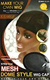 (3 Pack) Qfitt Mesh Dome Style Wig Cap Extra Large #5021