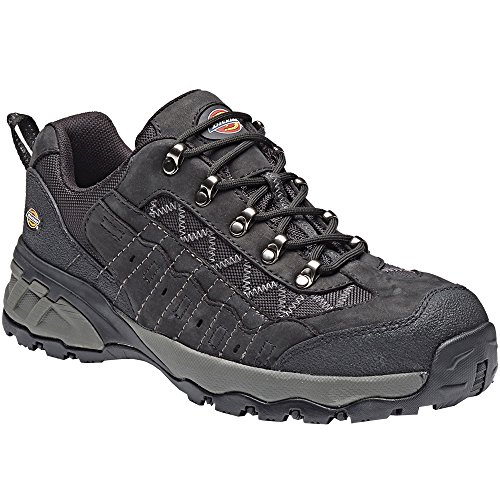 Dickies Mens Gironda Safety Composite Toe Cap Midsole Leather Trainers Black