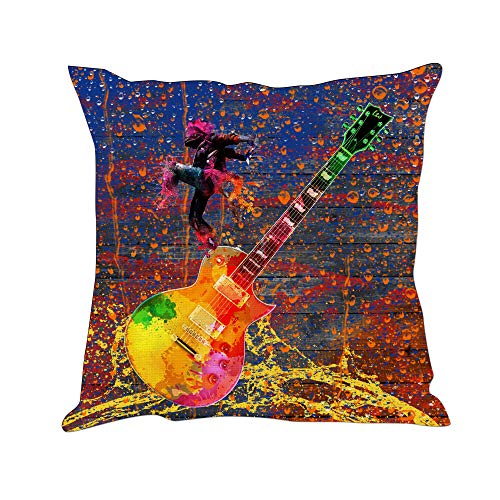 Tom Boy Guitar Throw Pillow Covers Decorative Cushion Cases Pillowcases for Couch,18