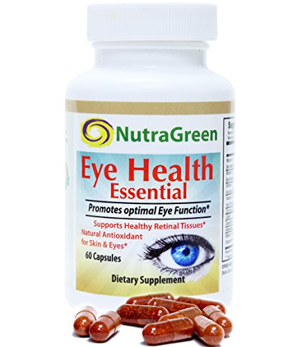NutraGreen Lutein 20mg with Zeaxanthin, Astaxanthin, Bilberry Eye Supplements Vitamins For Vision & Macular Degeneration Health, 1 Capsule Daily 2 Months Supply