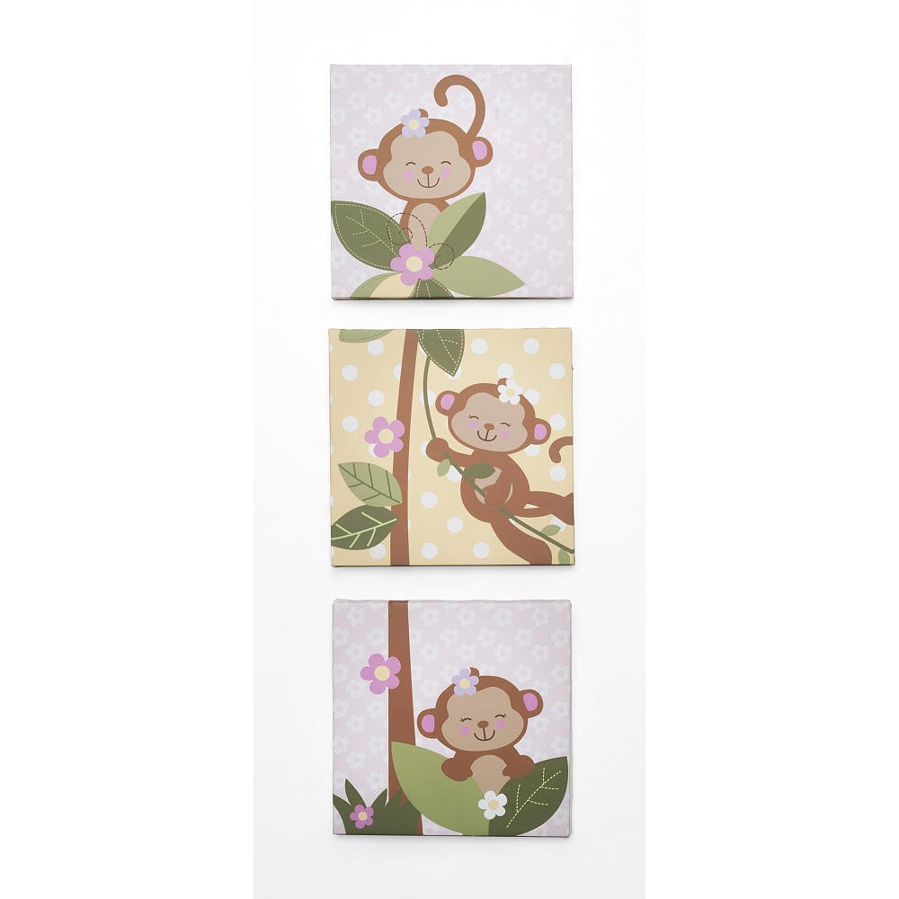 Koala Baby 3 Piece Girls Monkey Wall Art Set Babies R Us