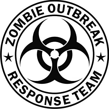 Zombie outbreak response team black die cut vinyl decal sticker