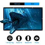 LATIT Projector Screen, Portable Projection Screen, HD Movie Screen, Indoor Outdoor Foldable No Crease Wrinkle Free Screens, for Home Theater, Diagonal 16:9, 100 inches