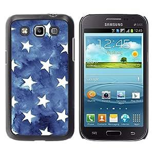 iKiki Tech / Estuche rígido - Stripes American Flag Blue White - Samsung Galaxy Win I8550 I8552 Grand Quattro