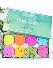 Shower Steamers Bath Bombs Aromatherapy Shower Bombs with Essential Oils for Relaxation, Stress Relief Set of 6pcs Shower Steamer Tablets Mothers Day Gifts Great Spa Gifts for Women
