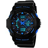 BesWLZ Multi Function Digital LED Quartz Watch Water Resistant Electronic Sport Watches Child Blue