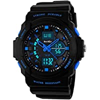 BesWLZ Multi Function Digital LED Quartz Watch Water Resistant Electronic Sport Watches for Boy Girls Child Kids...