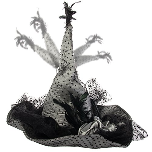 Dancing Musical Witch Hat Halloween Costume Accessory Scary Party Decoration -