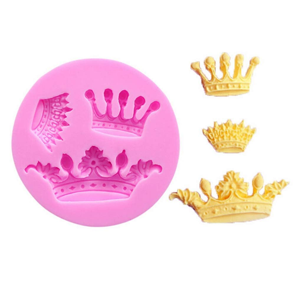 Tcplyn Durable Silicone Cake Mould Crown Chocolate Fondant Mold Soap Molds Silicone Baking Molds