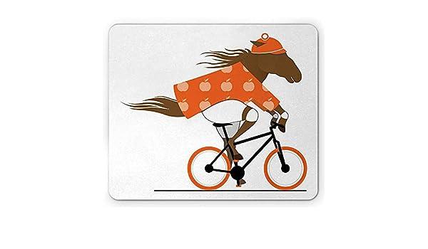 Horse Mouse Pad, Ilustración de un Ciclista Que Monta una ...