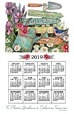 2019 Calendar Towel & Dowel - Garden Signs, Flowers, Watering Can - Kay Dee