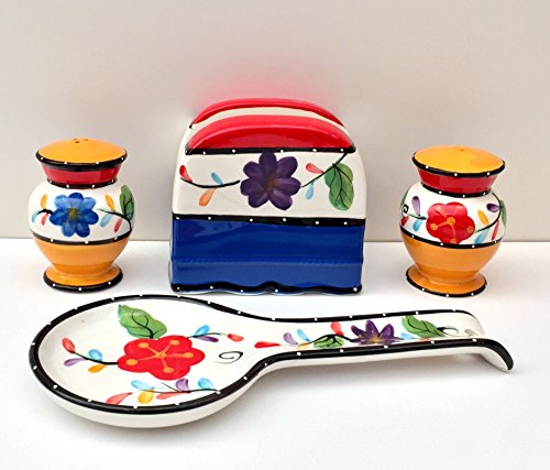 Price comparison product image Tutti Frutti Viva Collection Hand Painted Ceramic Table Top Set,  89525 / 28 by ACK