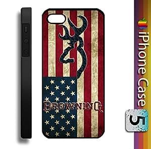 New Deer Us Flag Vintage Custom Case for Iphone 5 Case