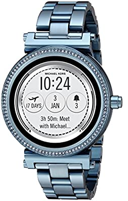 Michael Kors Access Women's 'Sofie Touchscreen' Quartz Stainless Steel Casual Watch, Color Blue (Model: MKT5042) from Michael Kors Connected Watches Child Code