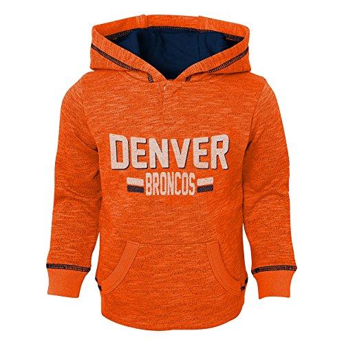 Outerstuff NFL Denver Broncos Kids & Youth Boys Tiny Linemen Slub Fleece Hoodie, Orange, Youth - Broncos Sweatshirt Denver Orange