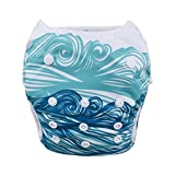 Babygoal Baby Swim diapers, Babygoal Reuseable Washable and Adjustable for Swimming, Outdoor Activities and Daily Use, Fit Babies 0-2 Years SWD44-CA