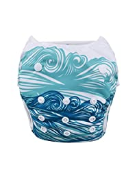 Babygoal Reuseable Washable Adjustable Swim Diapers Fits For Baby boy SWD44F