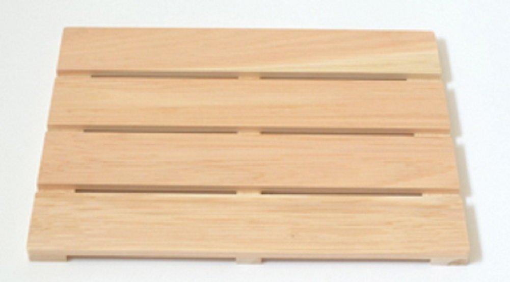 IPPINKA Hinoki Wood Shower and Bath Mat, Medium Size